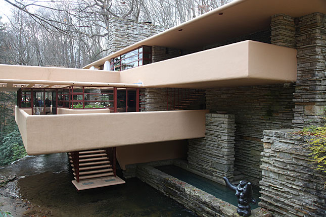 Mill Run, Fallingwater entrance side