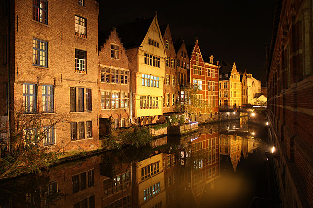 Gent, Evening in winter
