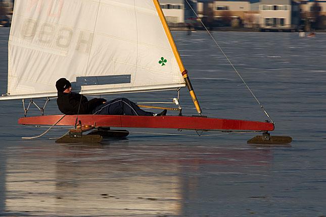 Lelystad, Ice sailing