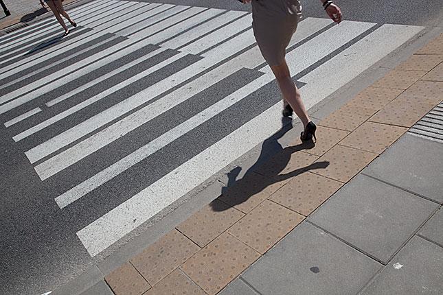 Warsaw, Pedestrian crossing