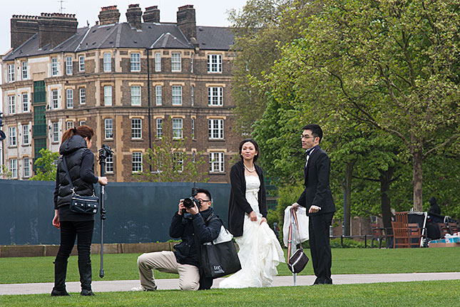 London, Wedding portrait