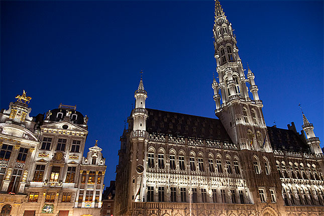 Brussels, Grand Place at Night 2