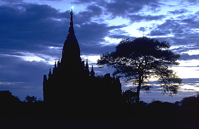 Bagan, Pagoda sunset
