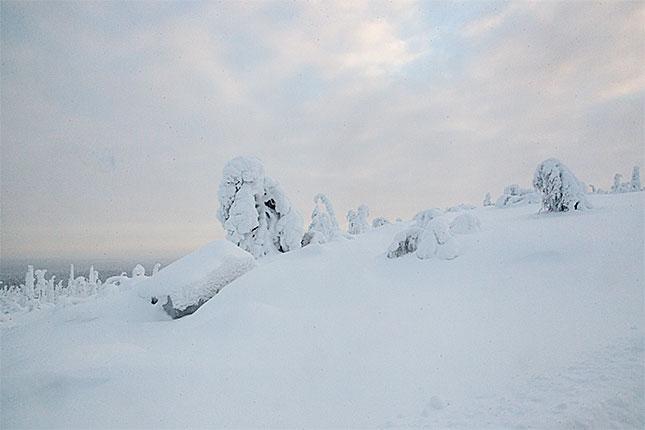 Ruuhintunturi, Snow scape
