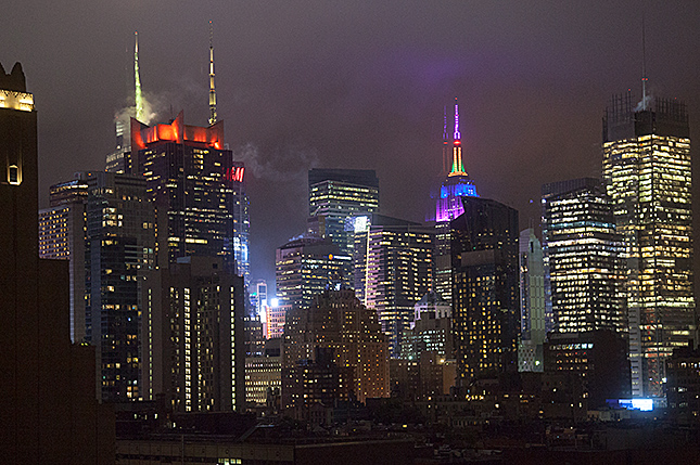 New York City, Nightly Manhattan skyline